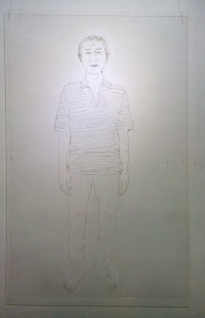 Lelaki itu - Marker on Acylic sheet - 120x90cm